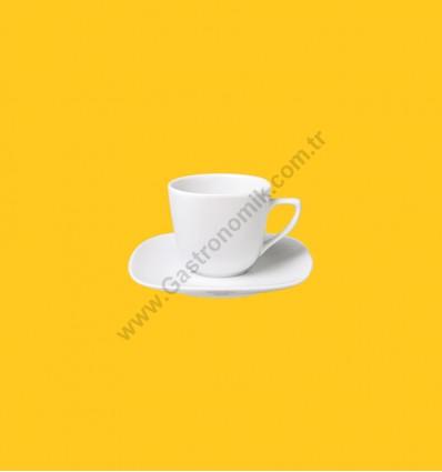 Mimoza Nescafe Fincanı Tabaklı